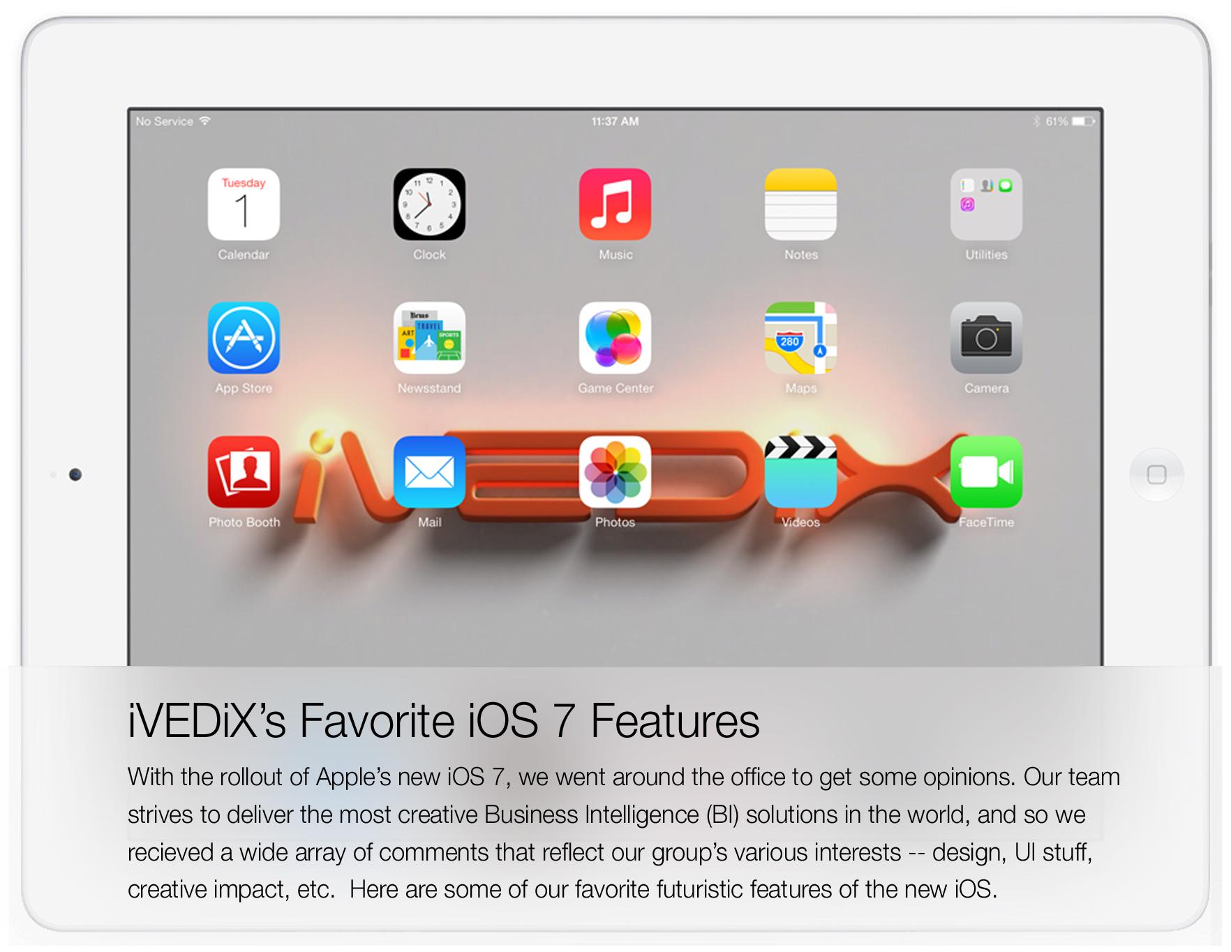 iVEDiX's Favorite iOS 7 Features